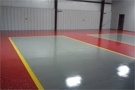 Wonderful red epoxy floor