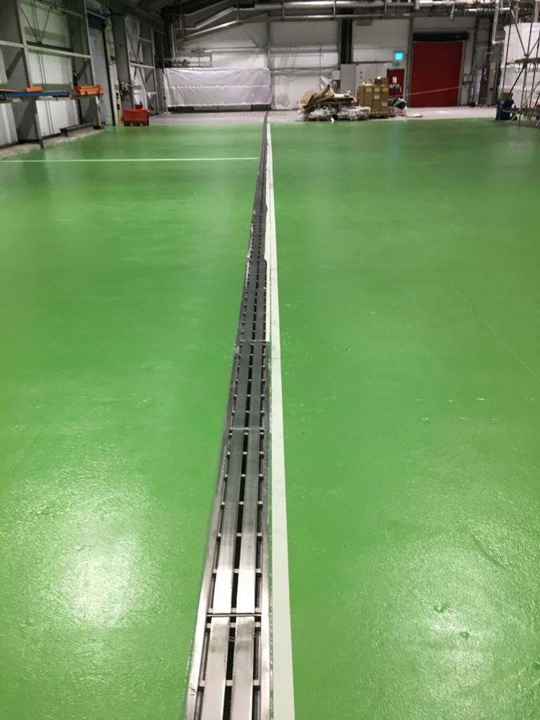 industrial green floor