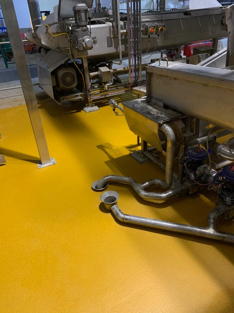 yellow floor machines